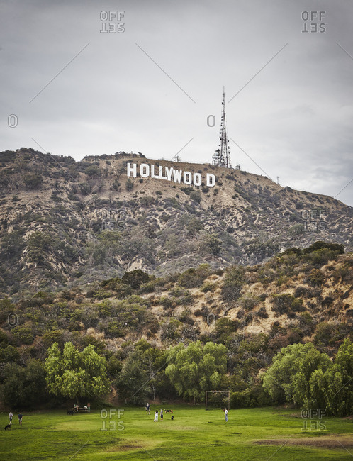 USA, Los Angeles - August 30, 2016: Hollywood, Sign in Hollywood Hills