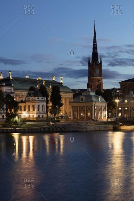 Sweden, Stockholm, City at night