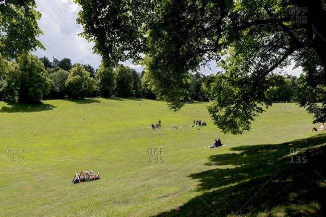 Sweden, Stockholm - September 29, 2016: Hagaparken park on sunny day