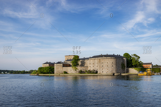 Sweden, Stockholm - December 20, 2016: Castle by sea