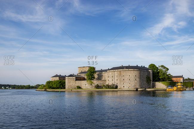 Sweden, Stockholm - December 20, 2016: Castle by sea