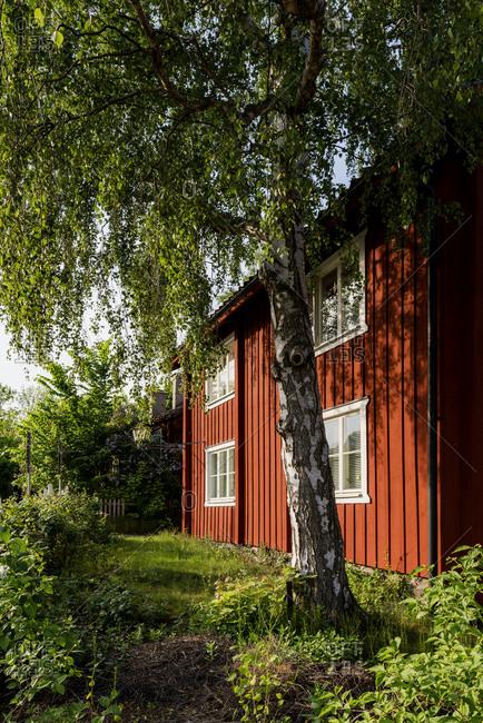 Sweden, Stockholm Archipelago, Uppland, Vaxholm, Wooden house