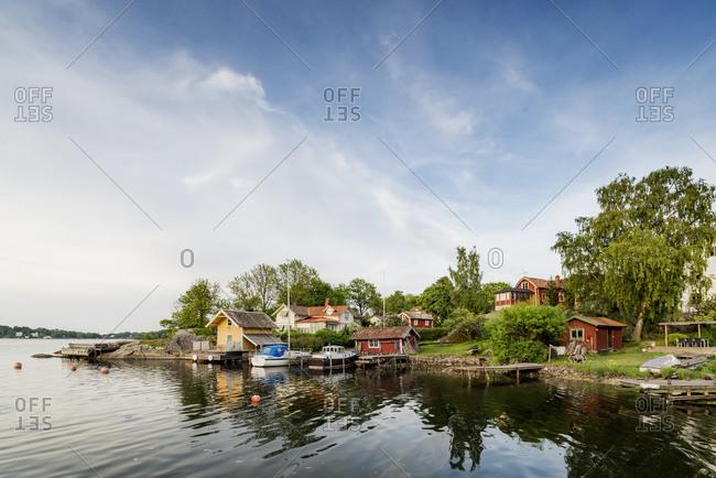 Sweden, Stockholm Archipelago, Uppland, Vaxholm, Small town