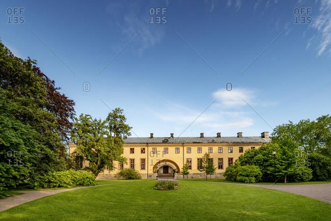 Sweden, Uppland, Uppsala, Building in Linnean Gardens of Uppsala