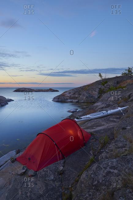 Sweden, Ostergotland - November 16, 2016: Sankt Anna archipelago