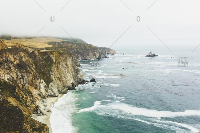 USA, California, Big Sur, View of rocky coast