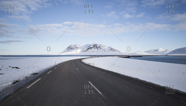 Iceland - empty country road