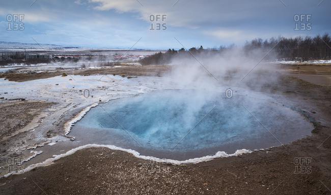Iceland - geysir and hot springs on Golden Circle