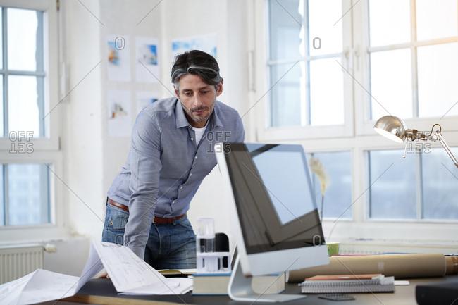 Man in a modern office