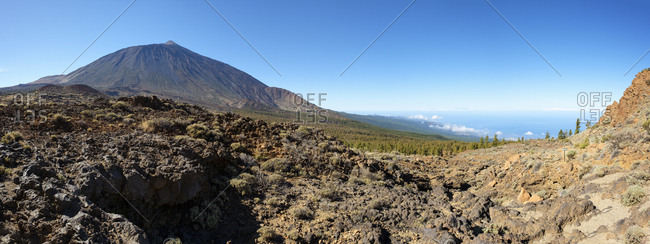 Spain - Tenerife - Teide National Park - Pico del Teide and north coast