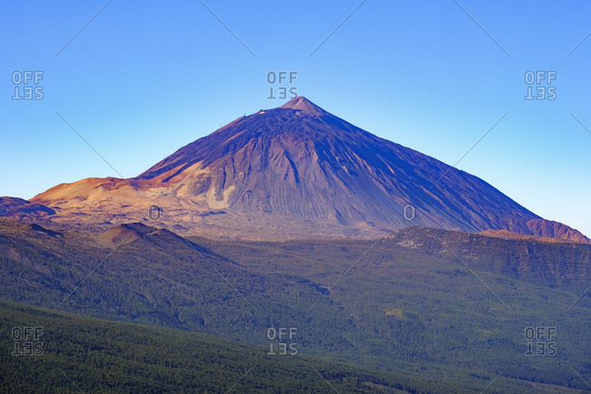 Spain - Tenerife - Teide National Park - Pico del Teide as seen from Mirador de Chipeque