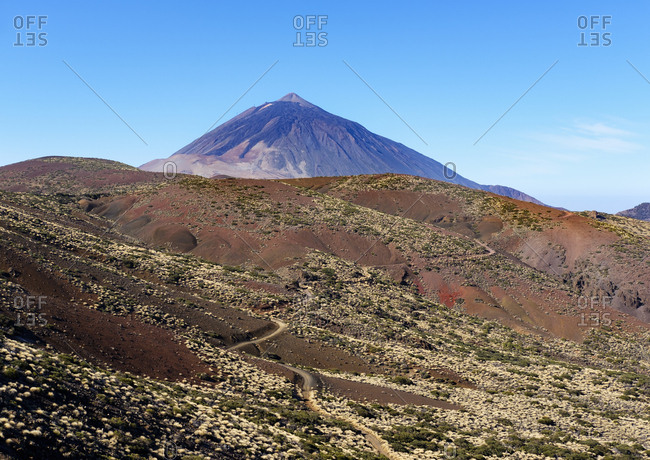 Spain - Tenerife - Teide National Park - Pico del Teide as seen from the east
