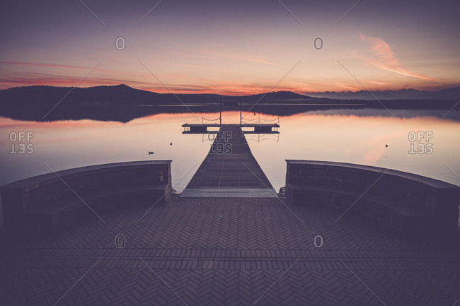 Italy - Lago Viverone after sunset