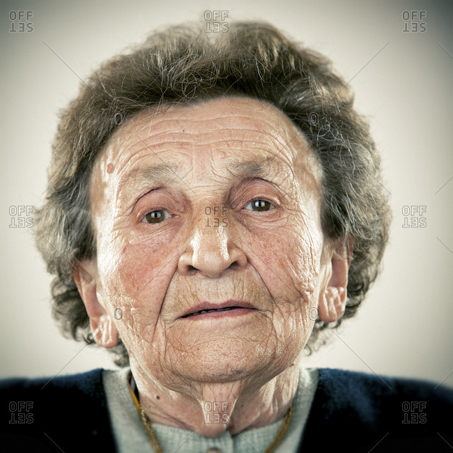 Portrait of an elderly lady