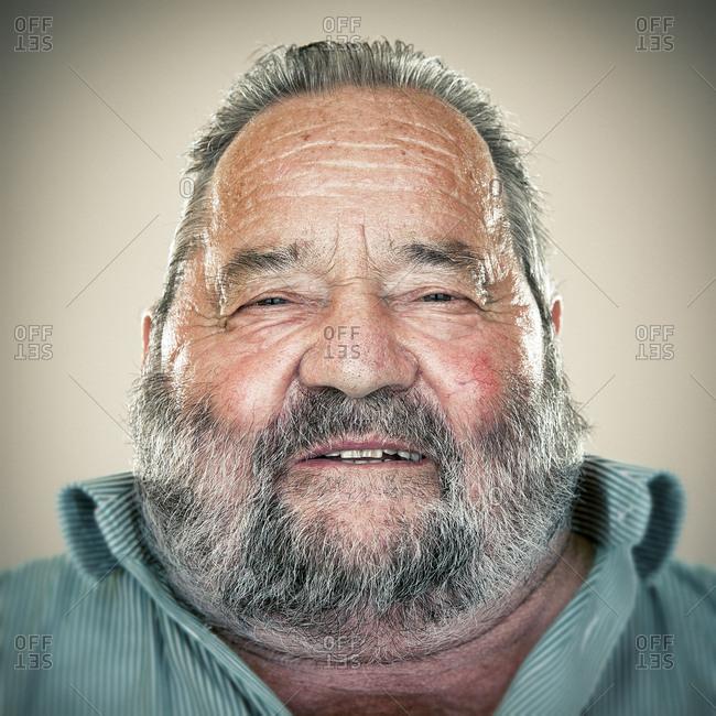 Portrait of an elderly man with beard
