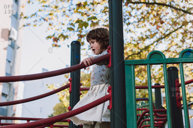 Young girl on a playground