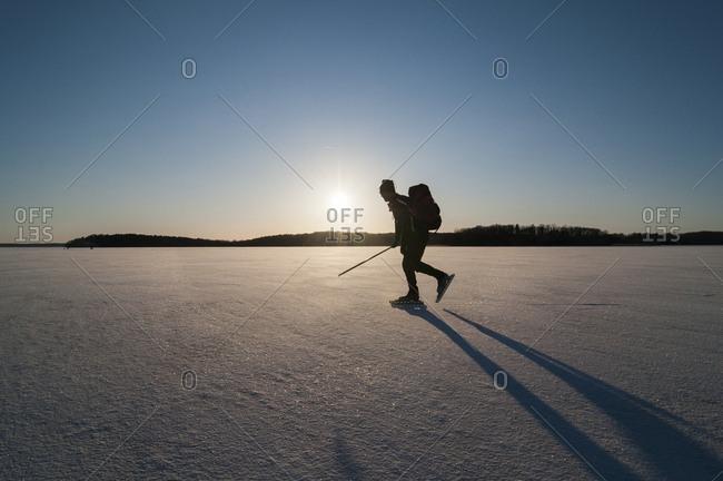 Hiker in winter