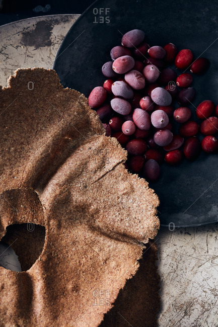 Pastry crusts and berries