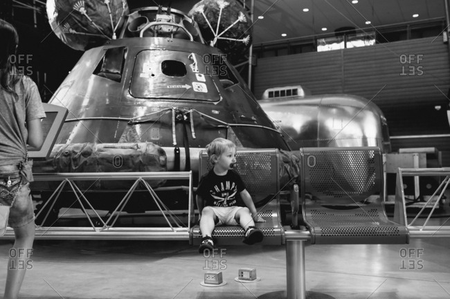 Kids in space museum