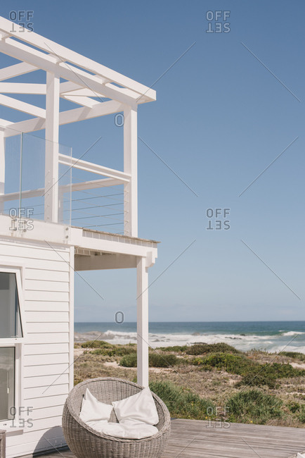 View of the ocean from a beach house in Langebaan, South Africa