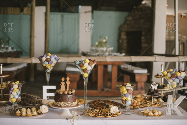 Sweets table at a wedding reception