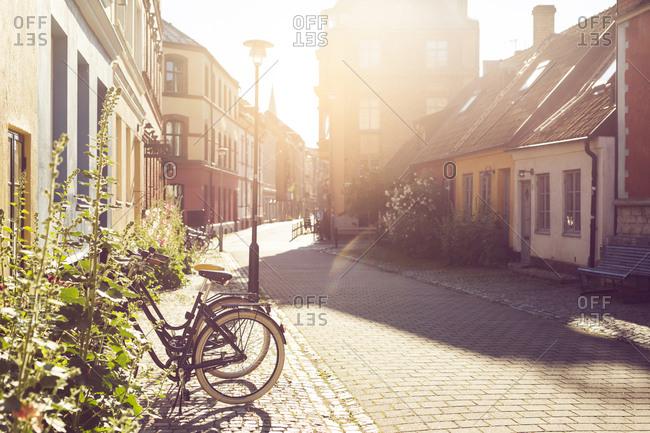 City street on sunny day