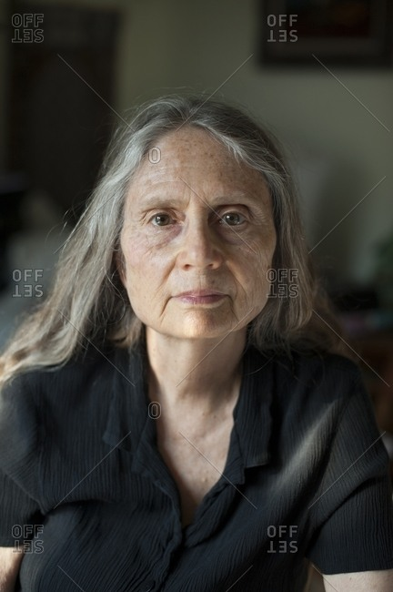 Close up of older woman