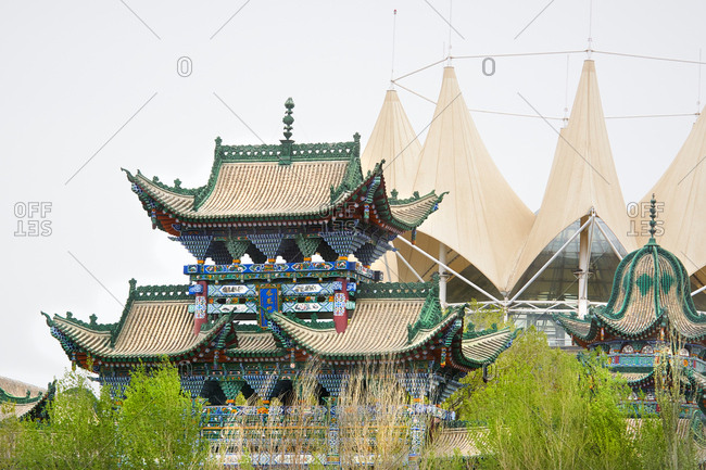 Chinese Muslim temple, Xining, Qinghai, China