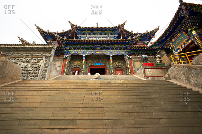 South Xining buddhist temple, Xining, Qinghai, China