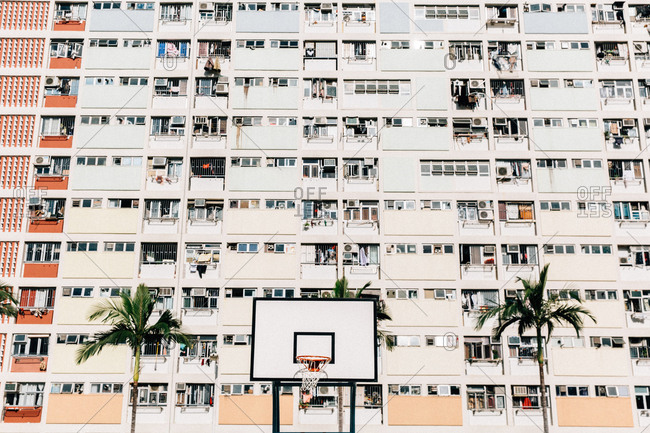 Basketball Hoop at the Choi Hung Estate in Hong Kong