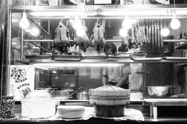 January 23, 2017 - Hong Kong: Street Food stall