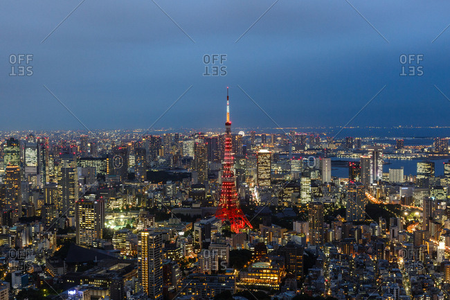 September 30, 2016 - Tokyo, Japan: City view from the Roppongi Hills Sky Deck