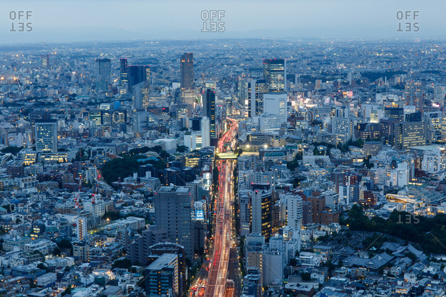 September 30, 2016 - Tokyo, Japan: View of city from the Roppongi Hills Sky Deck