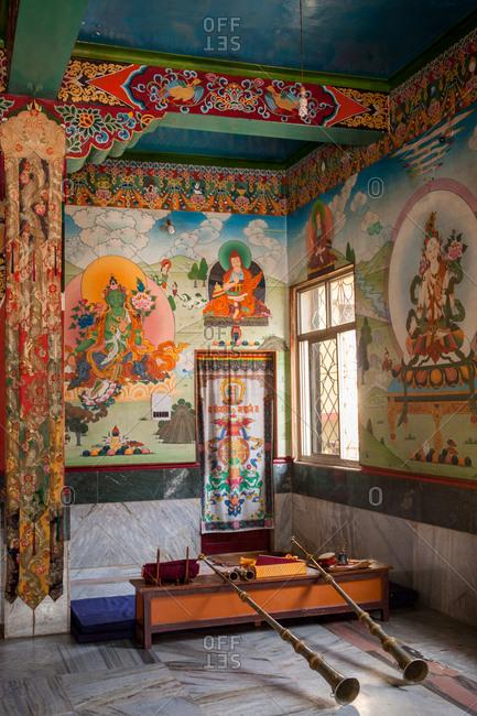 January 9, 2016 - Inside of a Tibetan Gompa
