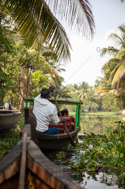January 18, 2016 - Kerala, India: Boats on the backwaters of Alleppey