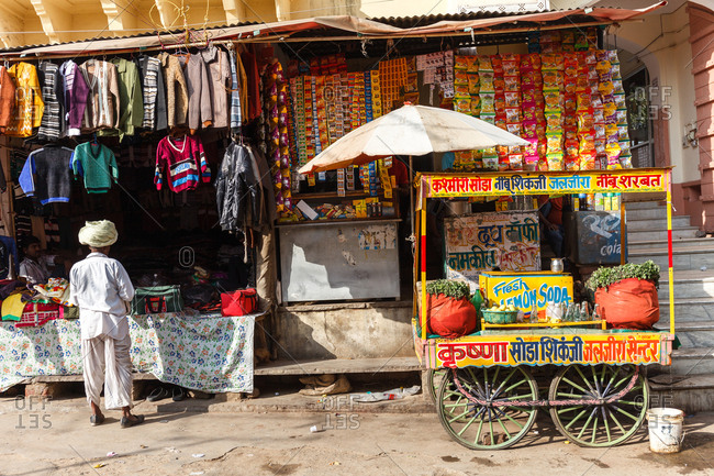 November 15, 2015 - Pushkar, India: Colorful market scene