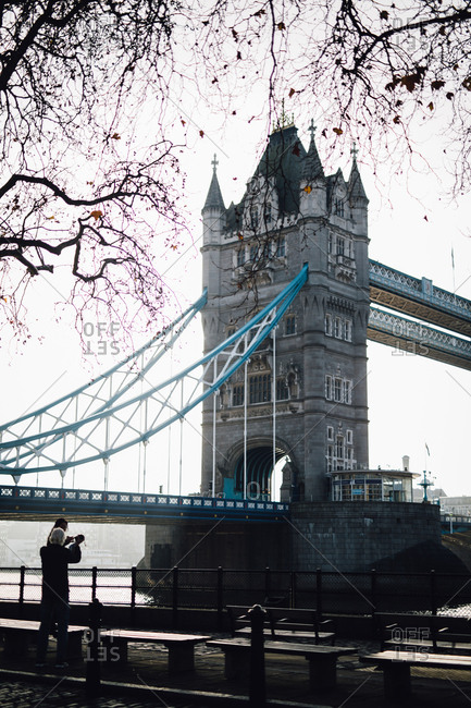 London, England - November 26, 2016: A view of the Tower Bridge