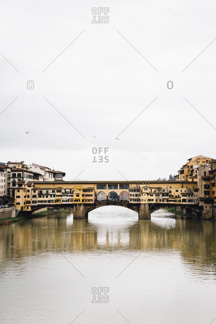 Ponte Vecchio over river, Florence, Italy