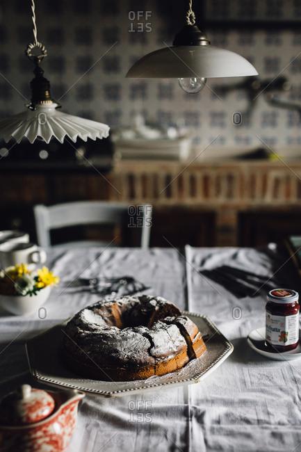 February 5, 2017: Bundt cake on kitchen table