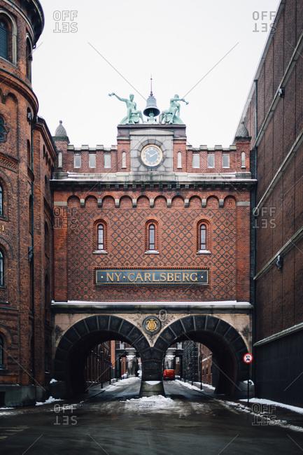 Copenhagen, Denmark - February 10, 2017: Carlsberg brewery building