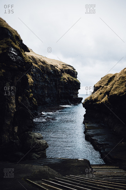 Inlet in the Faroe Islands