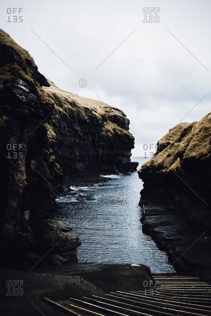 Inlet in the Faroe Islands