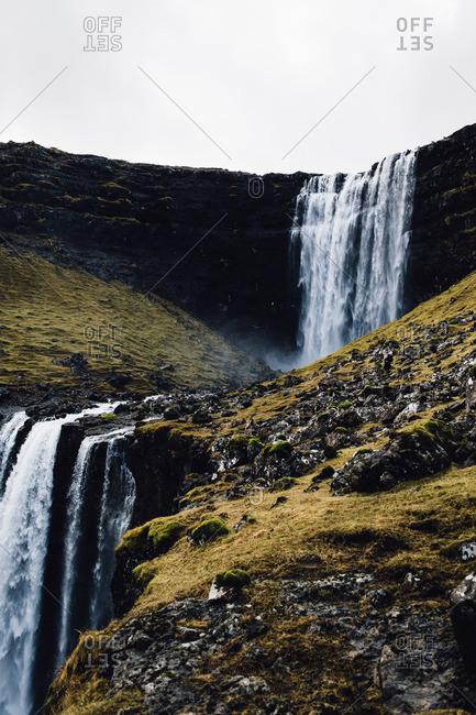 Waterfall in the Faroe Islands