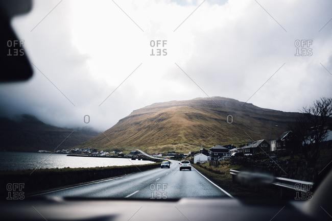 Faroe Islands, Denmark - March 11, 2017: Traffic in the Faroe Islands