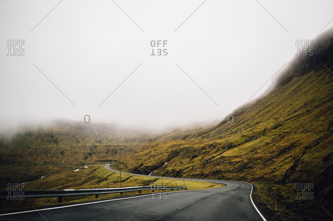 Road in the Faroe Islands