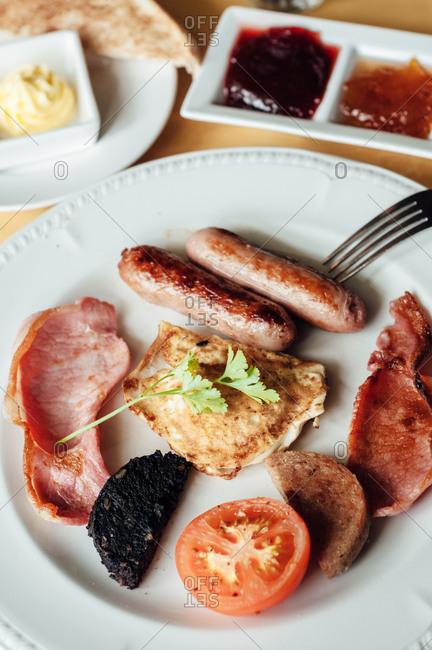 A traditional breakfast in Ireland