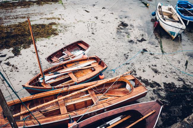Boats on a beach in Ireland