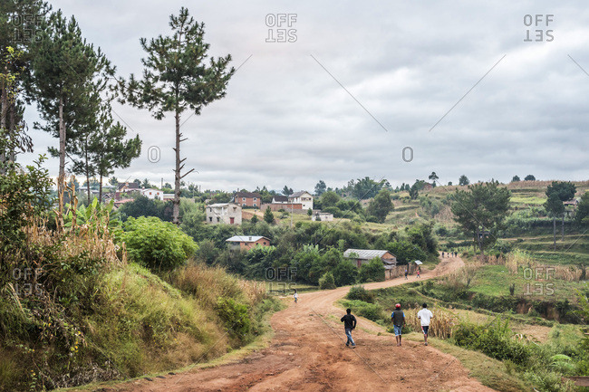 Antsirabe, Antananarivo, Madagascar - June 17, 2016: Madagascar, Antananarivo, Antsirabe, Madagascar Central Highlands
