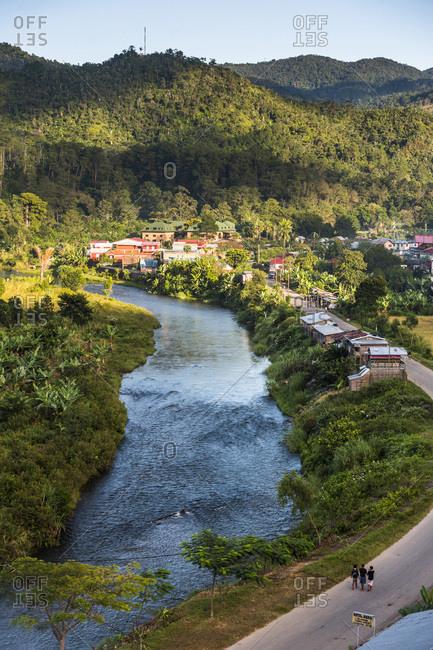 Toliara, Madagascar - June 17, 2016: Ranomafana Town and Namorona River