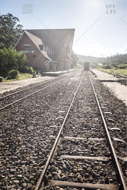 Toamasina, Madagascar - June 17, 2016: Andasibe train station